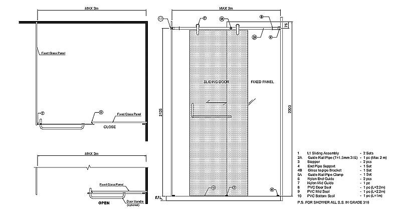Frameless Sliding Doors Frameless Glass Sliding Doors